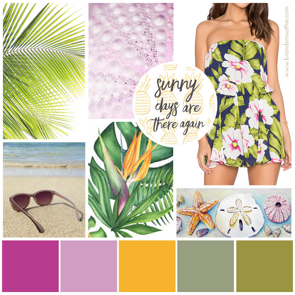 Moodboard feminine tropical