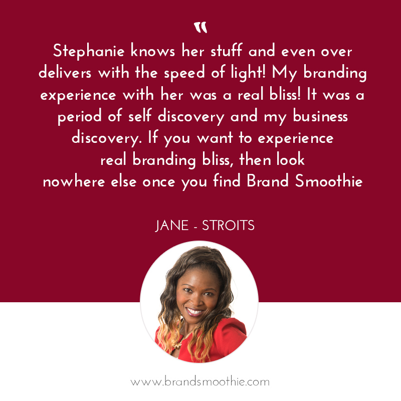 Branding Bliss testimonial with Jane - Stroits