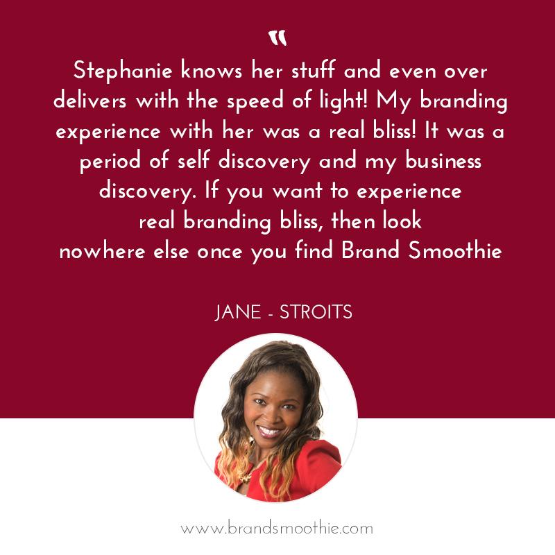 Branding Bliss testimonial with Jane - Stroits