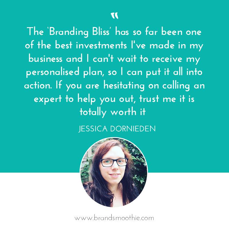 Branding Bliss testimonial Jessica