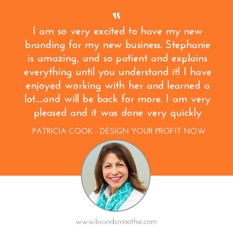 Branding Bliss testimonial Patricia