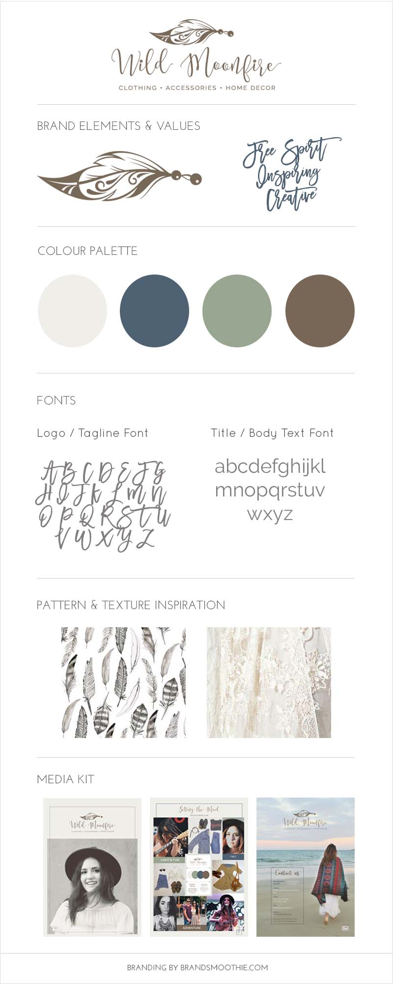 Wild Moonfire brand style board by Brand Smoothie