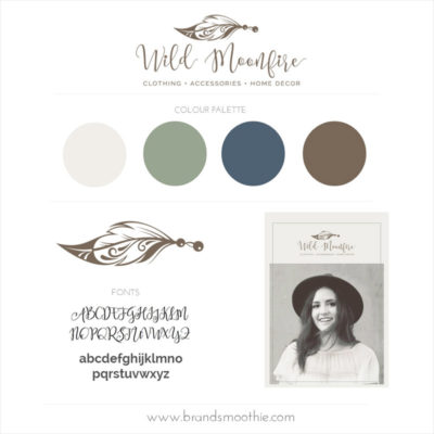 Brand Style Board Wild Moonfire